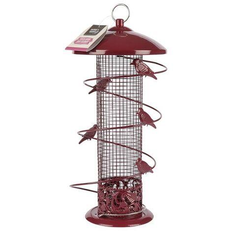"main image of ""Kingfisher Natures Market Wild Bird Peanut Feeder Hanging Garden Red"""