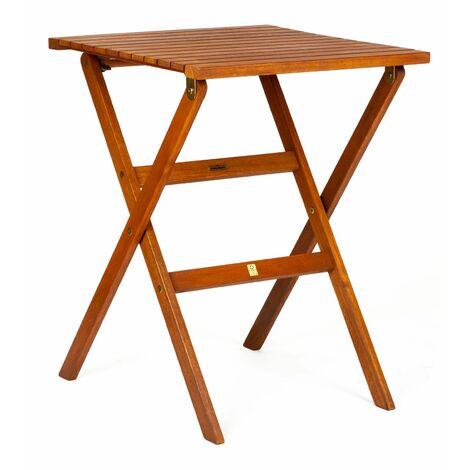 KINGSBURY - Table de jardin pliante en bois d\'eucalyptus FSC 56 x 56 x 74 cm