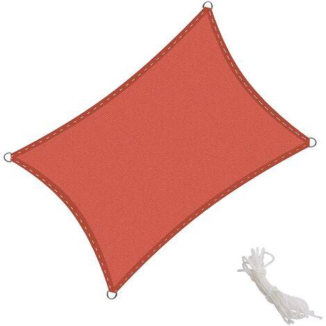 KingShade Toldo Vela Rectangular 2.5x3m Vela de Sombra para Exteriores Patio Jardín Protección UV Polietileno de Gran Densidad Transpirable