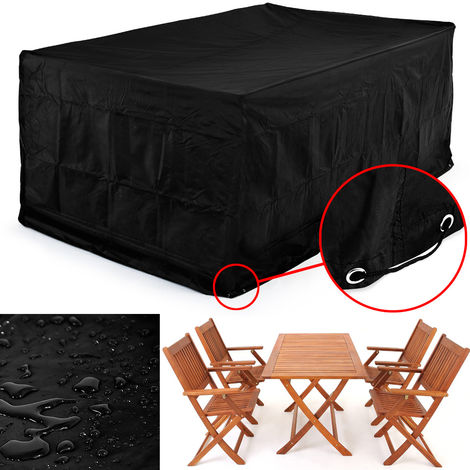 Kingsleeve Cover Garden Furniture 122x112x98cm Weather-resistnat Covering 420 D Oxford Table Chair