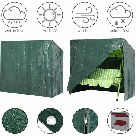 Kingsleeve Lona de protección para columpios 185x117x170/150cm funda protectora cobertor exterior