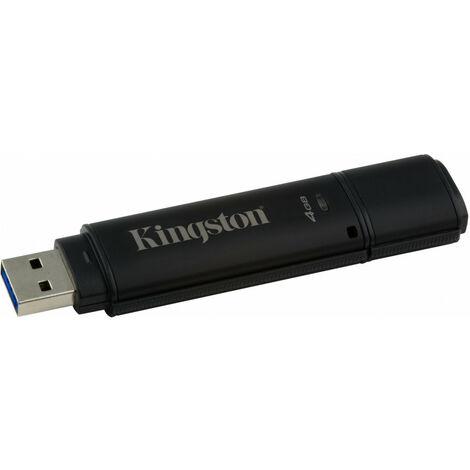 """main image of """"Kingston DataTraveler 4000G2 with Management 4GB - 4 Go - USB Type-A - 3.2 Gen 1 (3.1 Gen 1) - Casquette - Protection par mot de passe - Noir (DT4000G2DM/4GB)"""""""