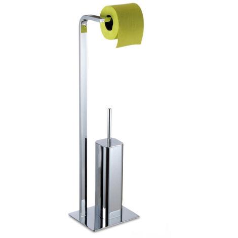 Kingston Freestanding Toilet Roll Holder & Brush Combo