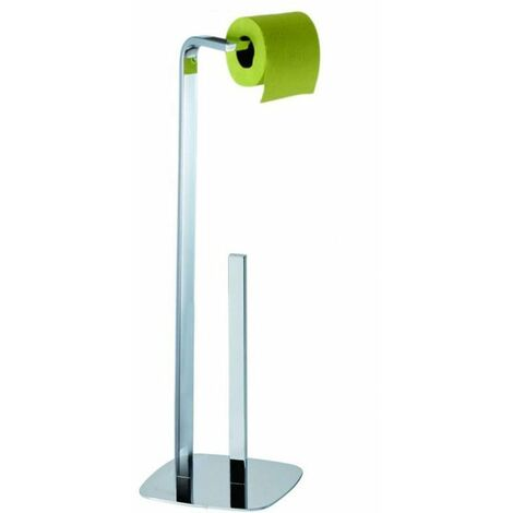 Kingston Freestanding Toilet Roll Holder & Spare Paper Combo