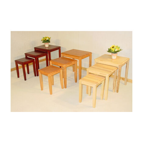 Kingtroad Wood Nest Of 3 Side Coffee Tables Available In