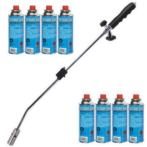 Kinzo Unkrautbrenner Set mit 8 Gaskartuschen und Gasbrenner