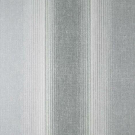 Kirby Stripe Charcoal Wallpaper Crown Textured Vinyl White Grey Modern