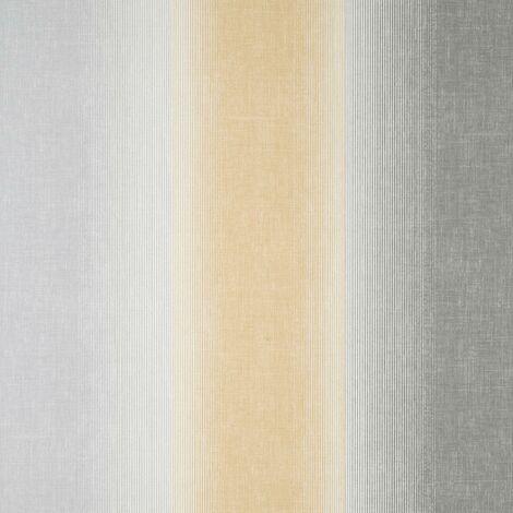 Kirby Stripe Mustard Wallpaper Crown Textured Vinyl Yellow Grey White Modern
