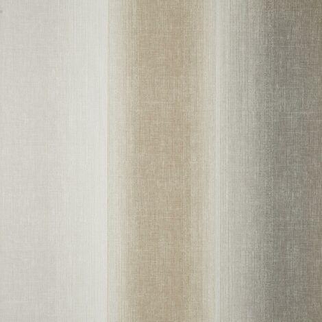 Kirby Stripe Natural Wallpaper Crown Textured Vinyl Cream Beige Modern