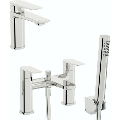 Kirke Combo WRAS basin and bath shower mixer tap pack
