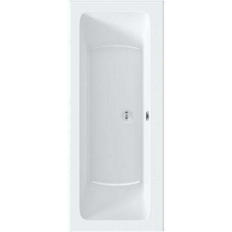 Kirke square edge double ended reinforced bath 1700 x 700