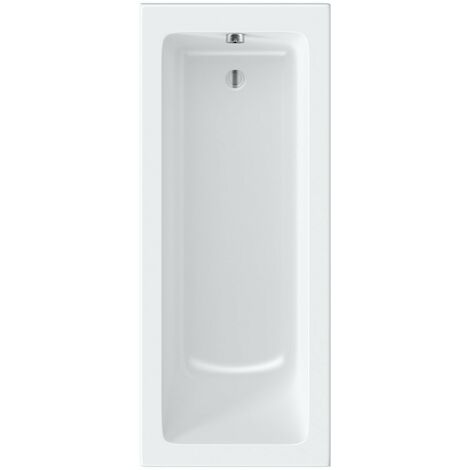 Kirke square edge reinforced single ended bath 1700 x 700