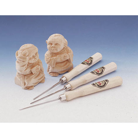 Kirschen Outils de sculpture forme droite - set de 3 pièces
