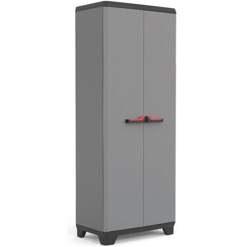 Image of Keter Storage Cabinet with Shelves Stilo Grey and Black 173 cm - Black