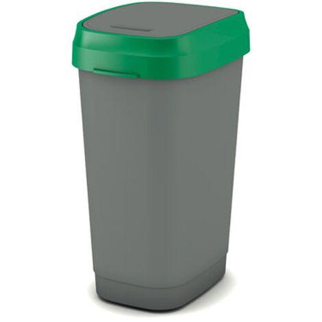 Kis vuilsnisbak Dual-Swing-Eco grün und grau 50L