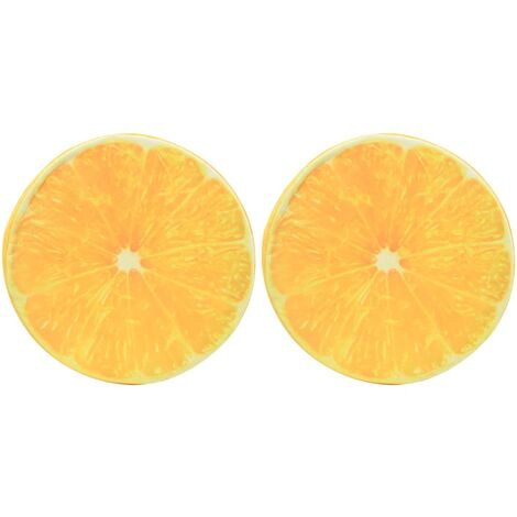 Kissen 2 Stk. Fruchtoptik Orange