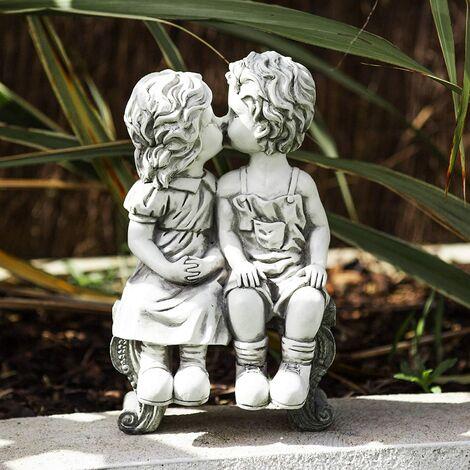 "main image of ""Kissing Kids Garden Ornament"""