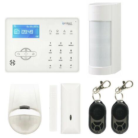 Kit 01 Alarme maison GSM avec détecteur OPTEX VXI-R - Iprotect Evolution
