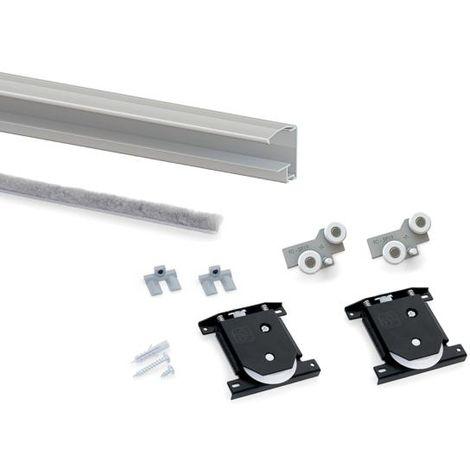 Kit 1 puerta placard hill-19 aluminio - talla