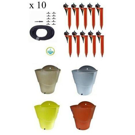 Kit 10 goutteurs avec supports Iriso + 1 réserve d'eau 12 L