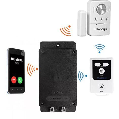 Kit 100% sans-fil autonome détection d'ouverture + sirène désactivable + alerte silencieuse GSM 3G Appel/SMS (gamme BT)