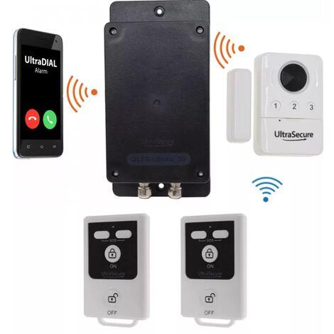 Kit 100% sans-fil autonome détection ouverture + sirène désactivable + alerte GSM 3G Appel/SMS (gamme BT)