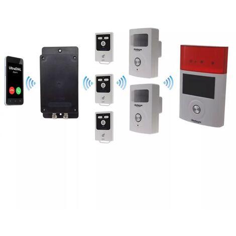 Kit 100% sans-fil autonome double détection mouvement + sirènes intégrées + solaire + alerte GSM 3G Appel/SMS (gamme BT)