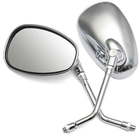 Kit 10mm Rétroviseur Miroir Rétro Latéral Vue Arriere Pour Honda Kawasaki Suzuki