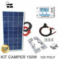 Kit 150W CAMPER 12V panel solar policristalino