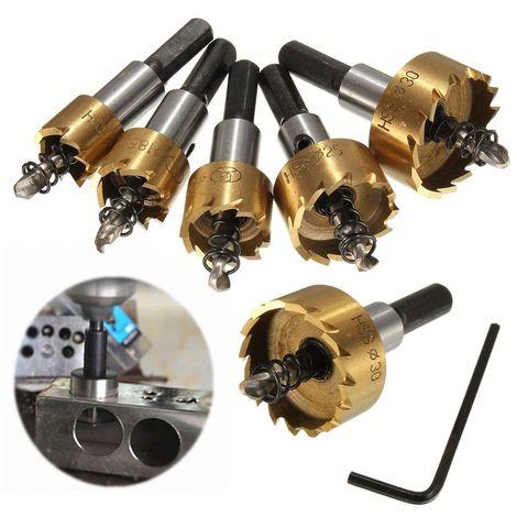 Kit 16-30MM HSS 5 Forets Scie Cloche Trou Fraise Cobalt 6542 Haute Vitesse Acier