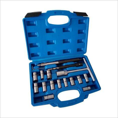 kit 17 piezas escariador del asiento inyectores diesel