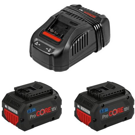 Kit 18V Procore BOSCH - 2 x batteries 18V 8.0Ah + chargeur GAL 1880 CV Pro - 1600A01C4K