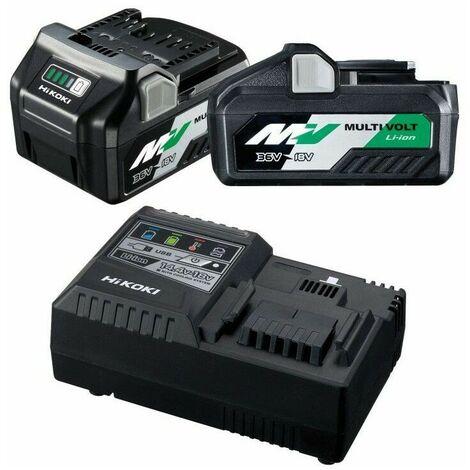 Kit 2 Batteries 36V Multi Volt BSL36A18 + 1 Chargeur rapide UC18YSL3W0Z Hitachi-Hikoki