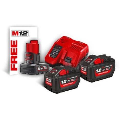 Kit 2 batteries + chargeur M18HNRG-122 NRG MILWAUKEE - 4933464261