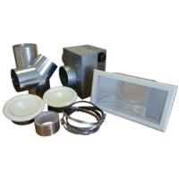 Kit 2 bouches récupérateur de chaleur pour poêle à bois 350 m3/h