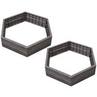 KIT 2 carrés potager empilable ERGO avec 2 sets d'extension