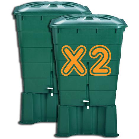 KIT 2 cuves à eau - Vert - 300 L