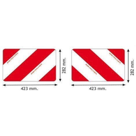 Kit 2 panneaux aluminium pour convoi agricole France 423x282x1 mm