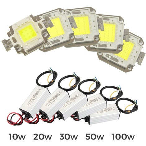 Kit 2 piezas para sustitución de PLACA LED + LED DRIVER focos LED LUZ FRÍA 6500k