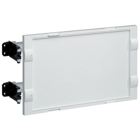Kit 2 rails réglables avec plastron plein blanc H300x500mm pour coffret NewVegaD HAGER FD02A2