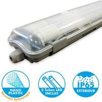 Kit 2 tubes LED 120cm + boitier étanche