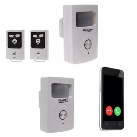 Kit 2 zones alarme GSM 3G sans-fil autonome - 2 détecteurs mouvement + 2 sirènes + alerte par appel/SMS (gamme BT)