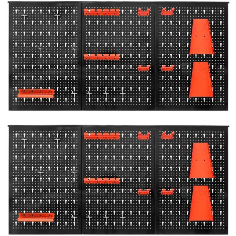 Kit 2x support outil mural perforé panneau rangement organisateur porte-outils