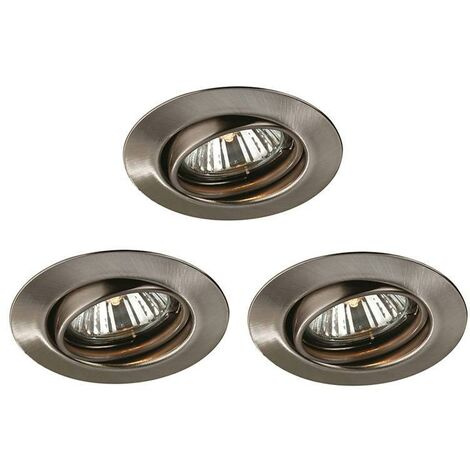 "Kit 3 Aros Empotrables ""Opal"" Aluminio 5933317Pn"