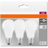 Kit 3 lampadine goccia led 10,5w attacco grande e27 luce naturale 4000k lumen 1055 led819573box3