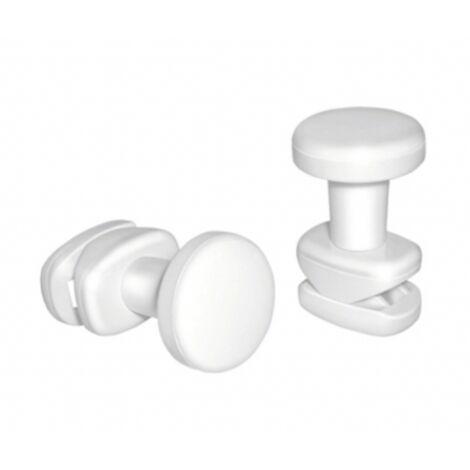 Kit 3 pateres pour seche-serviettes lames plates blanc Aquance