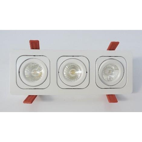 Kit 3 spots LED 20W encastré blanc orientable 267X97mm 4500K 1170lm 230V 36° IP23 MOTTO TREND TRIO SYLVANIA 3035933
