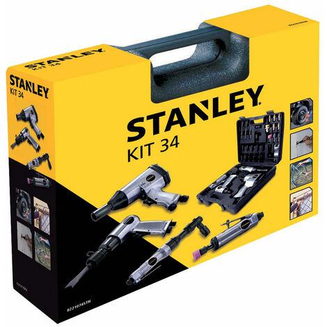 Kit 34 Utensili pneumatici Stanley per compressore aria