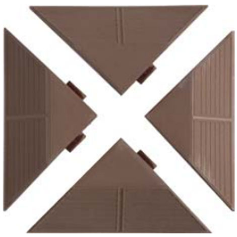Kit 4 angolari per piastrelle marrone PAM
