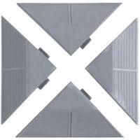 Kit 4 angolari piastrelle resina grigio PAG